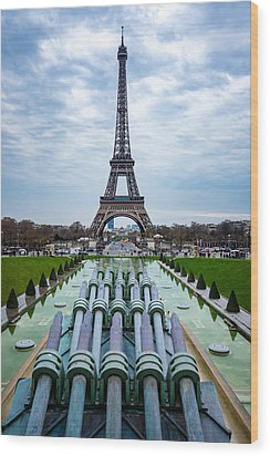 Eiffeltower From Trocadero Garden Wood Print