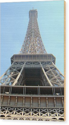 Eiffil Tower Paris France  Wood Print by Linda Shackelford