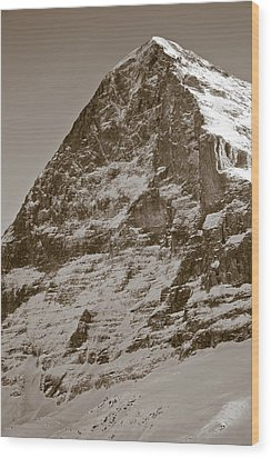 Eiger North Face Wood Print