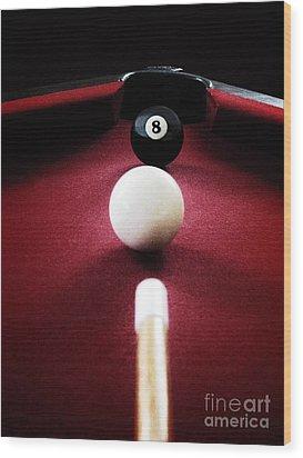 Eight Ball Wood Print by Birgit Tyrrell
