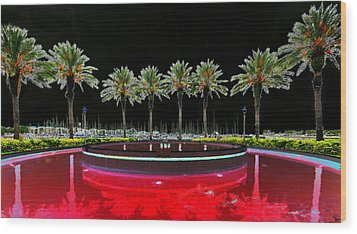 Eight Palms Drinking Wine Wood Print by David Lee Thompson
