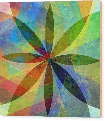 Wood Print featuring the painting Eight Petals by Michelle Calkins