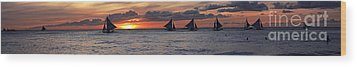 Eight Sailer Wood Print by Joerg Lingnau
