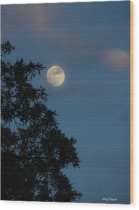 Wood Print featuring the photograph Eight Thirty Two Pm by Greg Patzer