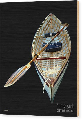 Eileen's Canoe Wood Print