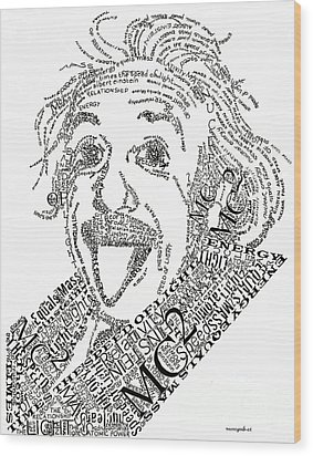 Einsteined. Wood Print