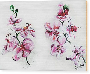 Either Orchid Wood Print by Amanda  Sanford