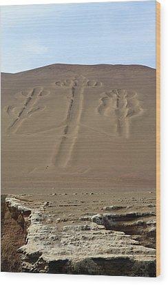 Wood Print featuring the photograph El Candelabro by Aidan Moran