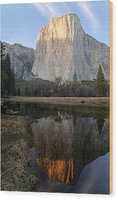 Wood Print featuring the photograph Yosemite - El Capitan by Francesco Emanuele Carucci