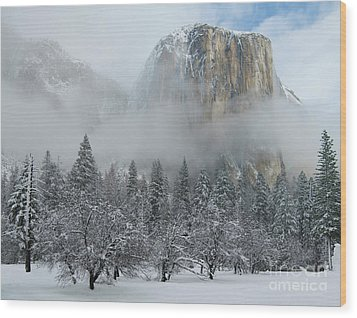 Wood Print featuring the photograph El Capitan Majesty - Yosemite Np by Sandra Bronstein