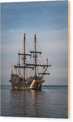 Wood Print featuring the photograph El Galeon Andalucia by Dale Kincaid