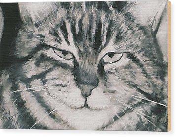 El Gato Wood Print by Billie Colson