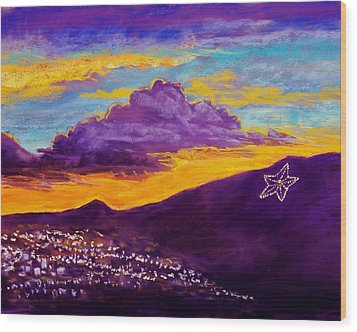 El Paso's Star Wood Print by Candy Mayer
