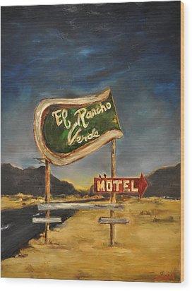 El Rancho Wood Print by Lindsay Frost