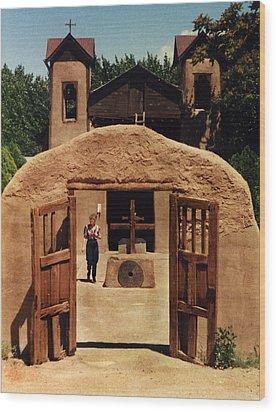 Wood Print featuring the photograph El Santuario De Chimayo by Kathleen Stephens