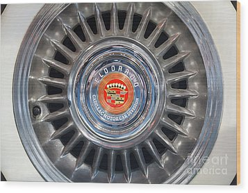 Wood Print featuring the photograph Eldorado Hubcap by Dennis Hedberg