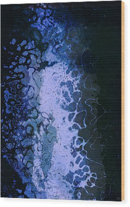 Electric Blue Frisson Wood Print