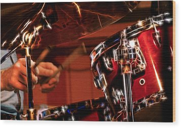Wood Print featuring the photograph Electric Drums by Cameron Wood