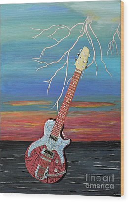 Electric Wood Print by Eric Kempson