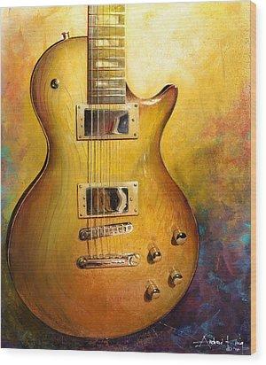 Electric Gold Wood Print