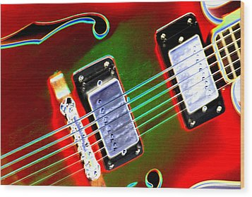 Electric Guitar Wood Print by Peter  McIntosh