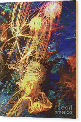 Electric Jellies Wood Print by Robert Ball