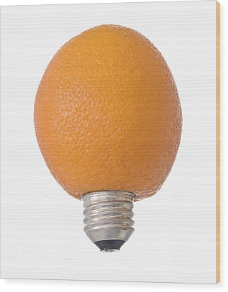 Electric Orange Wood Print by Jim DeLillo