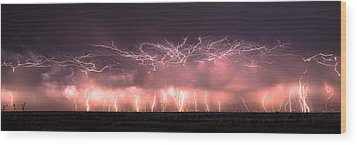 Electric Panoramic Wood Print