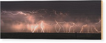 Electric Panoramic Iv Wood Print