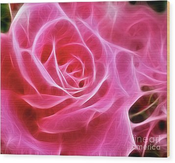 Electric Pink Wood Print