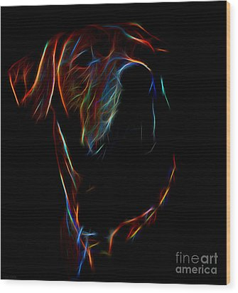 Electric Ridgeback Wood Print by Mim White