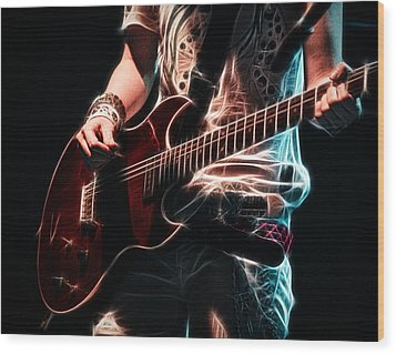 Wood Print featuring the photograph Electric Rock by Cameron Wood