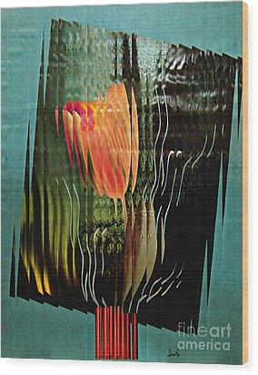 Electric Tulip 2 Wood Print by Sarah Loft
