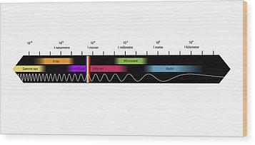 Electromagnetic Spectrum, Artwork Wood Print by Equinox Graphics