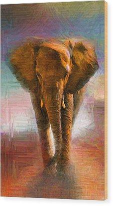Elephant 1 Wood Print