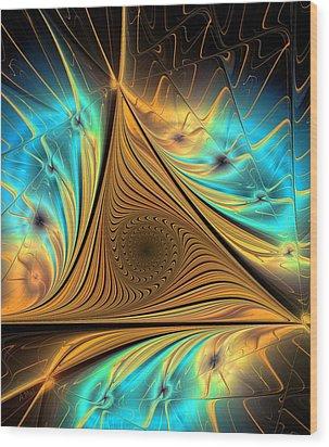 Wood Print featuring the digital art Element by Anastasiya Malakhova