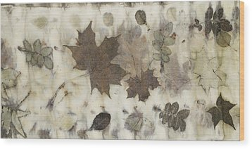 Elements Of Autumn Wood Print