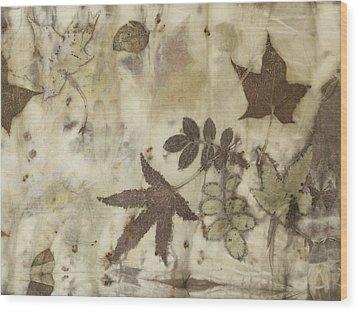 elements of autumn II Wood Print by Carolyn Doe