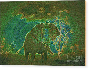 Elephant Abstract Wood Print