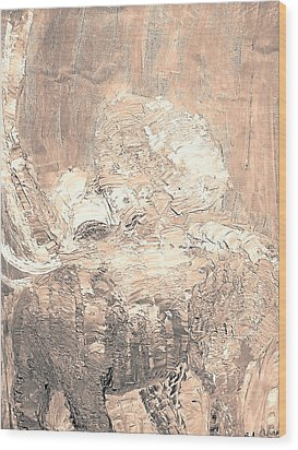 Elephant Wood Print by BJ Abrams