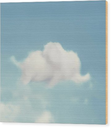 Wood Print featuring the photograph Elephant In The Sky - Square Format by Amy Tyler