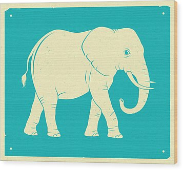 Elephant  Wood Print by Jazzberry Blue