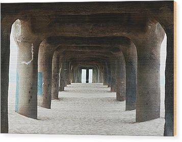 Elephant Legs Wood Print