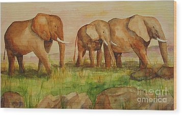 Elephant Parade Wood Print