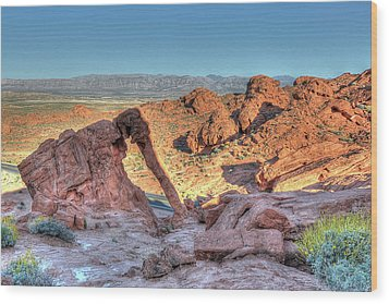 Elephant Rock - Hdr - Valley Of Fire Wood Print by Don Mennig