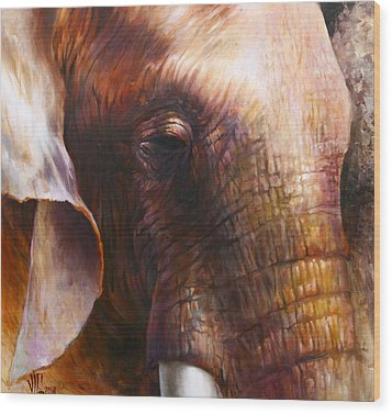 Elephant Empathy Wood Print