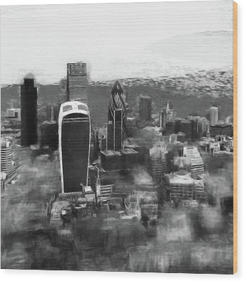 Elevated View Of London Wood Print by Gillian Dernie