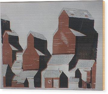 Elevator Wood Print by Rodger Ellingson