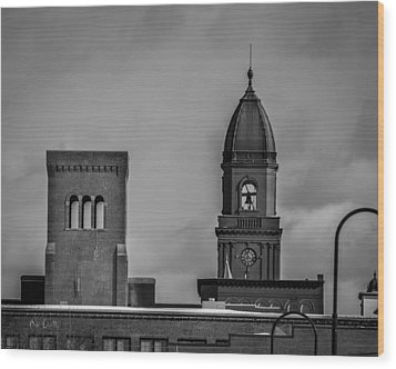 Eleven Twenty Says The Clock In The Tower Wood Print by Bob Orsillo