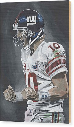 Eli Manning Super Bowl Mvp Wood Print by David Courson
